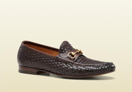 gucci-woven-brown-leather-horsebit-moccasins