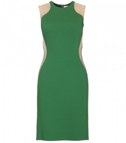stella-mccartney-green-mesh-insert-dress