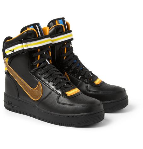 + Riccardo Tisci Air Force 1 Cuir Chaussures Montantes - Noir Nike 0VBgHOM9nD