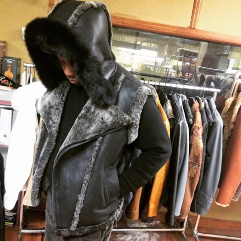 SHABAZZ BROTHERS CUSTOM SHEARLING HOODIE VEST | SHIVE MAGAZINE